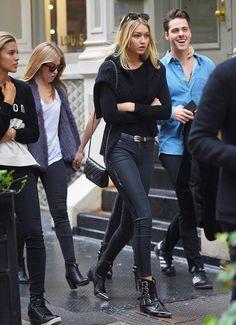 tuxedo strip jeans, black jeans