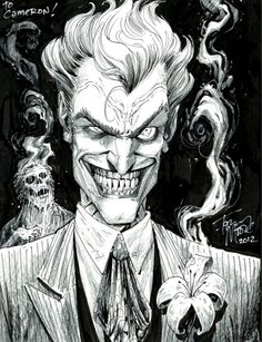 These are my personal top five picked of Joker illustrations. Joker has always been one of my favorite fictional characters. Comic Book Characters, Comic Character, Comic Books Art, Comic Art, Book Art, Fictional Characters, Jokers Wild, Joker Art, Im Batman