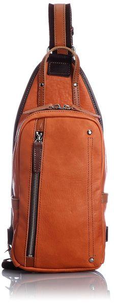 Amazon | [オティアス] Otias シュリンクレザーオイル仕上げ 縦型 ボディバッグ 50-6411 OR (オレンジ) | ボディバッグ・ワンショルダー