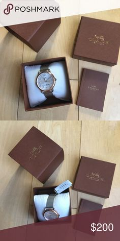 ✨PRICE REDUCED✨ COACH DELANCEY two-tone mesh watch Brand new, in box. Original tag attached, no prices marked on tag. Website description: With a rounded, fixed-lug case, the slender Delancey watch echoes the softly shaped hardware of key Coach handbags. The mesh bracelet style features stainless steel and rose-gold hardware, accented with bold numerals and a Coach Horse & Carriage emblem. Details: Two-tone case and mesh bracelet Approx. case diameter: 36mm Mineral crystal Quartz movement…