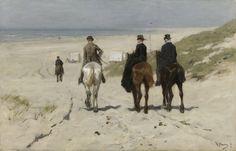 Morning Ride along the Beach by Anton Mauve, 1876. Rijksmuseum, Public Domain