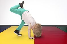 Junior Folding Mats are the perfect portable tumbling mat for kids - On sale now while supplies last!