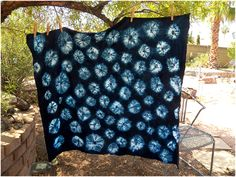 Kumo shibori takes a bit of time to do (and strong fingers!) but it looks spectacular. It's often described as being spider webs - I thi...