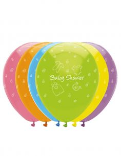 6 palloncini in lattice multicolor Baby Shower