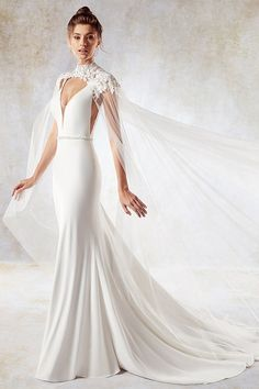 Eey-catching Chiffon   Tulle V-neck Neckline Mermaid Wedding Dress With  Beadings   f7227ea60de
