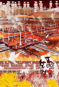 Manual For Eternal Autumnal Micro-Climates: Re-Imagining Kyoto As The City Of A Thousand Autumns by Martin Tang Axonometric drawing