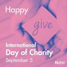 September 5 - International Day of Charity