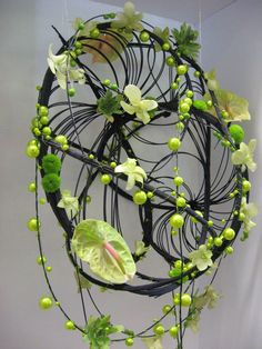 hanging medollino swirls, with bling