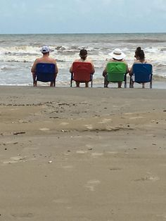 family in Surfside Beach, in August