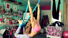 Aerial Yoga Flow Inspiration with Margie Pargie Antigravity Yoga Suspens...