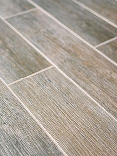 Porcelain Wood Plank - High Impact, Low Maintenance Basement Flooring Ideas on HGTV