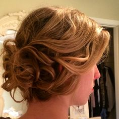 Curly updo I did for a special event! Fixed the frizz after the picture haha || Hair by Kayla Johnson