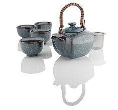 Forever in blue jeans. Teavana blue denim tea set.
