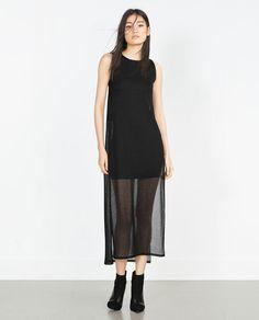 Image 1 of CREPE SLEEVELESS DRESS from Zara
