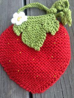 Ravelry: Leas Strawberry Bib pattern by Vania Jenny-Knit