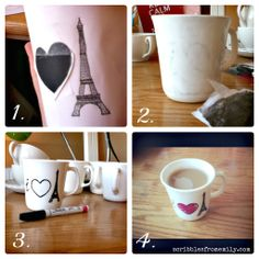 DISHWASHER SAFE Sharpie Mugs - most of the ones on Pinterest are not permanent, even after baking - this post tells you the secret :) (And I'd suggest using a 40% off coupon!)  *********************************************  Scribbles from Emily - #dishwasher #safe #sharpie #mugs #mug #dishes #permanent #crafts - tå√