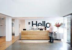 Reception on the first floor saatchi & saatchi in Soho London