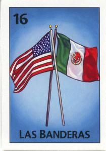 16 - Las Banderas / The Flags Mexico Style, Mexico Art, Iphone Wallpaper Tumblr Aesthetic, Aesthetic Wallpapers, Aesthetic Backgrounds, Loteria Cards, Loteria Shirts, Anerican Flag, Mexican American Flag