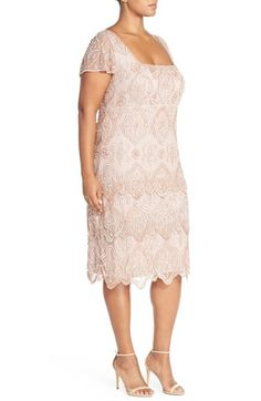 Pisarro Nights 'Lace Tiers' Embellished Cocktail Sheath Dress (Plus Size) | Nordstrom