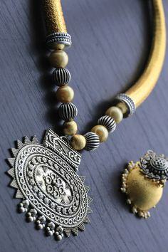 Two Tone Necklace Set - AristaBeads Jewelry - 1