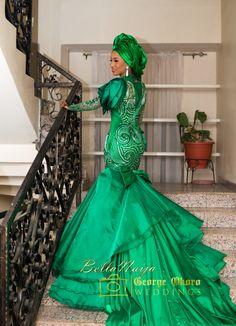 BellaNaija Weddings presents Aisha & Mustapha's Regal Wedding Muslim Wedding Gown, Nigerian Wedding Dress, African Wedding Dress, African Weddings, African Attire, African Wear, African Women, African Dress, African Beauty