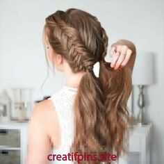 Braided Updo - 20 Easy Party Hairstyles for Long Hair - The Trending Hairstyle Easy Hairstyles For Long Hair, Braids For Long Hair, Cool Hairstyles, Hairstyle Ideas, Wedding Hairstyles, Blonde Hairstyles, Braided Hairstyles Tutorials, Braid Hair Tutorials, Hairstyles With Braids