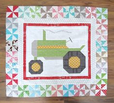 The Quilty Barn Along Tractor