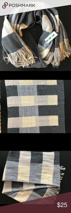 Neutral Color Block Scarf NWT Neutral Color Block Scarf NWT. Generous size.  100% acrylic. Accessories Scarves & Wraps