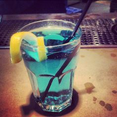 The Sonic Screwdriver... 2oz citrus vodka, 2oz blue curacao, ginger ale - ice, shake, strain. Seems easy enough