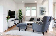 Salon styl Skandynawski - zdjęcie od Pracownia Architektoniczna Małgorzaty Górskiej-Niwińskiej