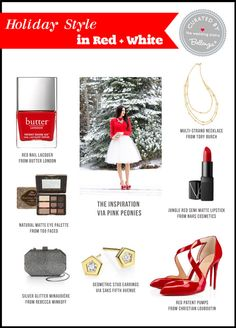 A Stylish Holiday Outfit with Old Hollywood Glamour in Mind. Red + White Style Finds at the Wedding Bistro at Bellenza!