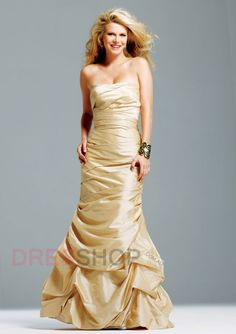 Floor-length Pleats Trumpet/Mermaid Elegant Evening Dresses