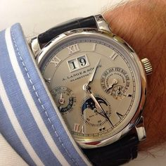 A.Lange & Soehne Langematik Perpetual in Platinum. For the millionaire in you.