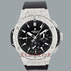 HUBLOT Big Bang Mens Custom Diamond Watch 8.25ct