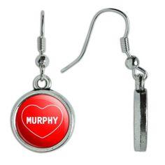 2e7c751200d Murphy I Love Heart Dangling Drop Earrings