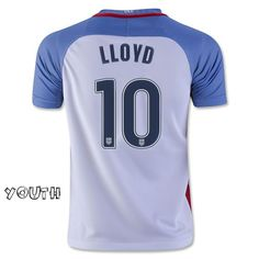 2016/17 Carli Lloyd (#10) Home Youth Jersey USA Soccer