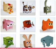 paper box animals.