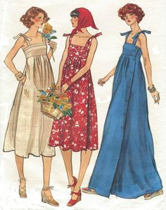 1970s Vogue Sewing Pattern 9743 Womens Side by CloesCloset on Etsy