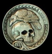 Afbeeldingsresultaat voor hobo nickel skull