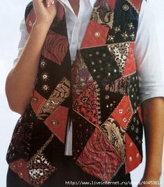 Patchwork kirkyama vest models - Sewing, Sewing narration, Sewing lessons, Sewing videos, Learning t Patchwork Bags, Patchwork Dress, Patchwork Patterns, Moda Emo, Baby Dress Patterns, Cotton Vest, Sewing Lessons, Vest Pattern, Quilted Vest