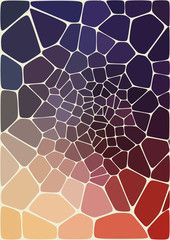 abstract composition with ceramic  geometric shapes