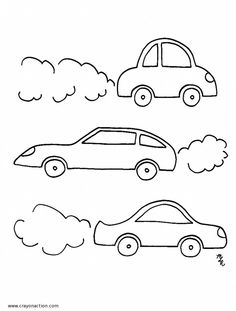 cars coloring page crayon - Simple Car Coloring Pages