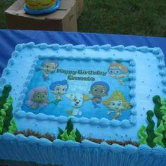 Bubble Guppies sheet cake. Katie's 4th birthday. June 1st