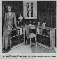 - Actress Margaret Mason poses with a simple corner arrangement. Days Of Our Lives, Soaps, Feelings, Classic, Life, Painting, Hand Soaps, Derby, Painting Art
