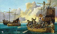 Juan Ponce de León' landing in Florida