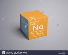 metales alcalinos elemento qumico de la tabla peridica de mendeleyev sodio en square cube concepto creativo jm9204 de la biblioteca de alamy de
