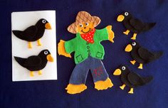 Scarecrow and 5 Crows Felt Board Set