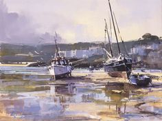 'RISING TIDE, ST IVES' | Ray Balkwill: scene of St Ives in Cornwall     ✫ღ⊰n