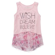 Effortlessly layered with her favorite cardigan or proudly worn on its own, this Cinderella tank top will keep your little princess happy and stylish.