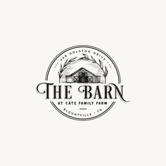 Client wanted his barns detailed illustration for this farm logo and i have added some botanical touches to frame it. Bakery Logo Design, Design Logo, Vintage Logo Design, Branding Design, Logo Vintage, Business Logo Design, Typography Logo, Logo Branding, Agriculture Logo